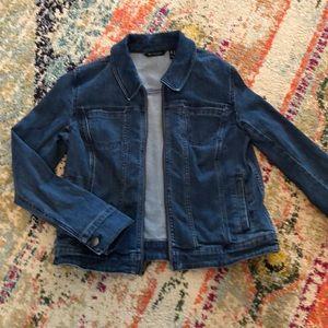H by Halston blue denim jacket size 4 worn 3x